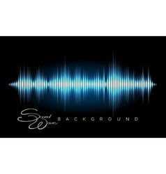 Stereo audio waveform poster vector
