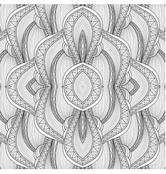 Monochrome seamless abstract tribal pattern with vector