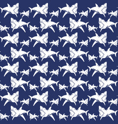 Dangerous sharks seamless pattern vector