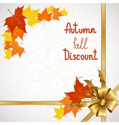 Autumn fall discount on white vector image
