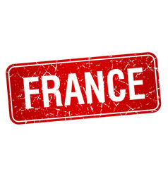 France red stamp isolated on white background vector