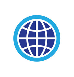 Circle globe technology logo vector