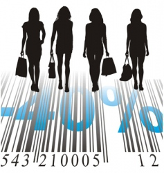 shopping discount forty percent vector image