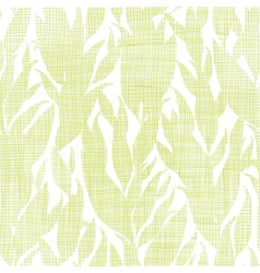 Green leaves textile texture seamless pattern vector