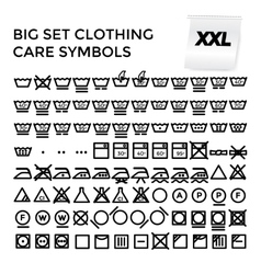 Set clothing care symbols vector