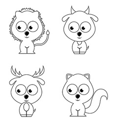 Animal cute vector