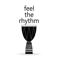 Feel the rhythm drum vector