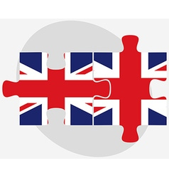 United kingdom and united kingdom flags in puzzle vector