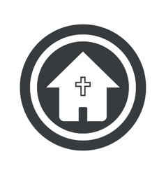 Round black christian house sign vector