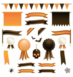 Orange and black ribbons vector