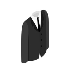Male suit icon vector