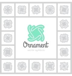 ornate symbols vector image