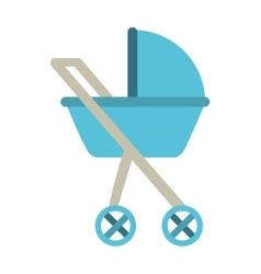 Baby carriage isolated icon design vector