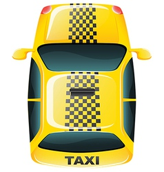 A topview of a yellow taxi cab vector image vector image
