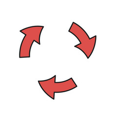 arrows cycle round process direction vector image