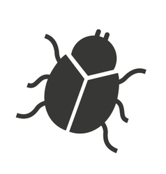 Beetle silhouette black icon vector