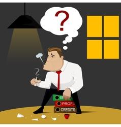 Businessman who bankruptcy design vector image vector image