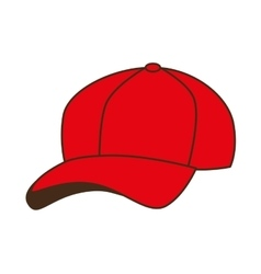 cap red baseball isolated vector image