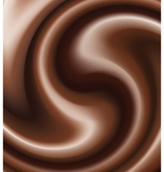chocolate swirl vector image