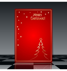 Christmas and New Year flyer template vector image vector image