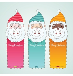 Christmas banners set with Santa Claus vector image vector image