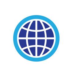 circle globe technology logo vector image
