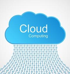 Cloud computing concept design vector image