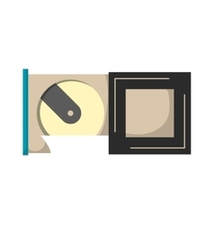 Computer HDD dive disk icon vector image