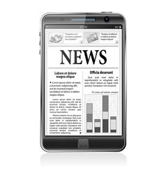Concept - Digital News Smartphone with News vector image vector image