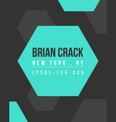 Design graphic business template name card vector