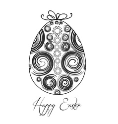 Easter egg with festive bow isolated on white vector