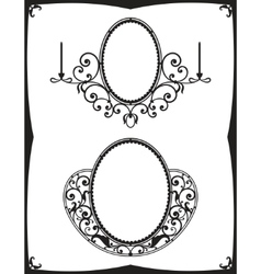forged mirror vector image