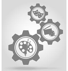 gear mechanism concept 07a vector image vector image