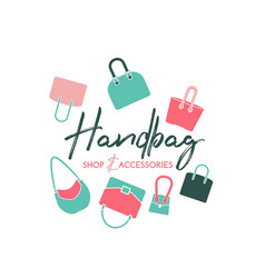 handbag shop logo vector image
