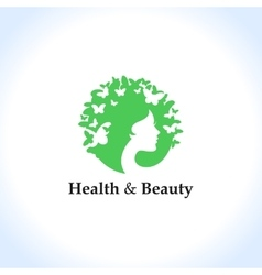 Health and beauty logo concept vector image