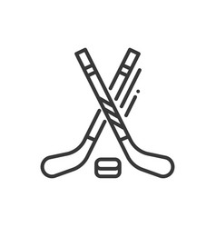 ice hockey - line design single isolated icon vector image vector image