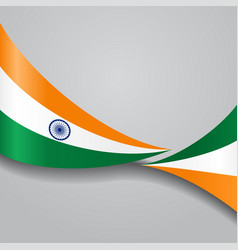 Indian wavy flag vector