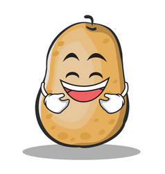Laughing potato character cartoon style vector