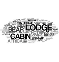 Lodge word cloud concept vector