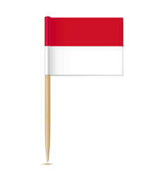 monaco flag toothpick vector image vector image
