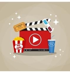 Online home cinema concept vector