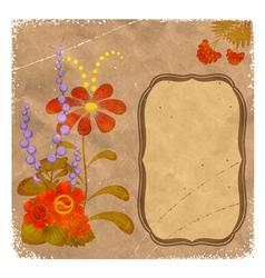 Petrikovka Ukrainian national floral ornament on v vector image vector image