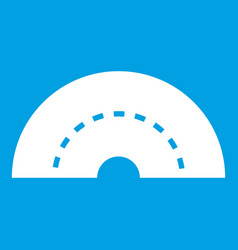Round turning road icon white vector