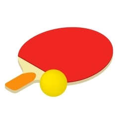 Table tennis isometric 3d icon vector image