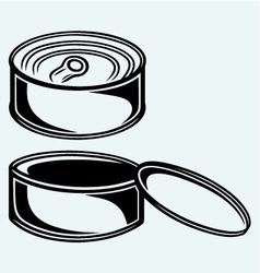 Tin can vector image vector image
