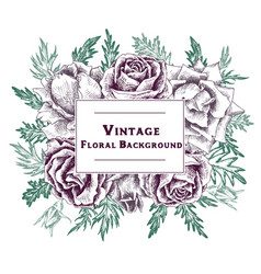 vintage floral composition vector image vector image