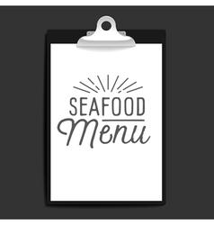 slogan object clipboard seafood menu vector image