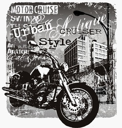 Motorcruise urban style vector