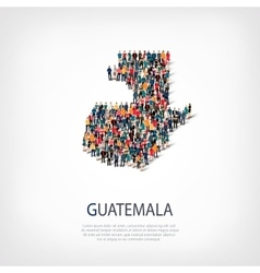 People map country guatemala vector