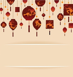 Decorative Background with Red Lamp vector image